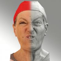 Raw 3D head scan of F phoneme - Drahomira