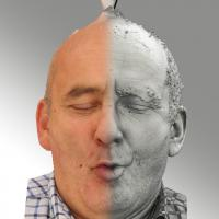 3D head scan of O phoneme - Michal
