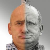 3D head scan of irate emotion - Michal