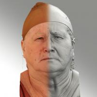 3D head scan of angry emotion - Lada