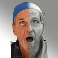 3D head scan of looking up emotion - Richard