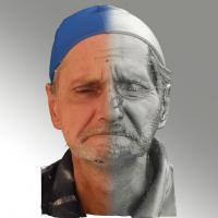 3D head scan of angry emotion - Richard
