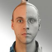 3D head scan of neutral emotion - Lukas