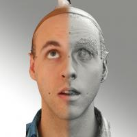 3D head scan of looking up emotion - Lukas