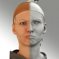 3D head scan of angry emotion - Iva