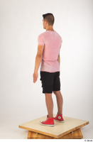 Colin black shorts clothing pink t shirt red shoes standing whole body 0004.jpg