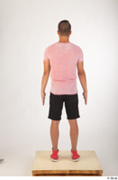 Colin black shorts clothing pink t shirt red shoes standing whole body 0005.jpg