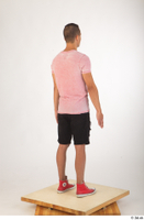 Colin black shorts clothing pink t shirt red shoes standing whole body 0006.jpg