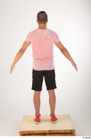 Colin black shorts clothing pink t shirt red shoes standing whole body 0013.jpg