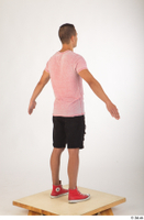 Colin black shorts clothing pink t shirt red shoes standing whole body 0014.jpg