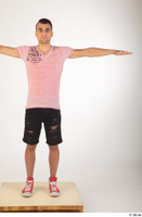 Colin black shorts clothing pink t shirt red shoes standing t-pose whole body 0001.jpg