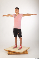 Colin black shorts clothing pink t shirt red shoes standing t-pose whole body 0002.jpg
