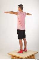 Colin black shorts clothing pink t shirt red shoes standing t-pose whole body 0004.jpg