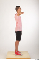 Colin black shorts clothing pink t shirt red shoes standing t-pose whole body 0007.jpg