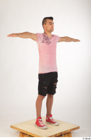 Colin black shorts clothing pink t shirt red shoes standing t-pose whole body 0008.jpg