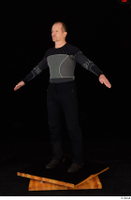George black thermal underwear clothing standing whole body 0010.jpg