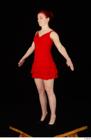 Vanessa Shelby red dress standing whole body 0016.jpg